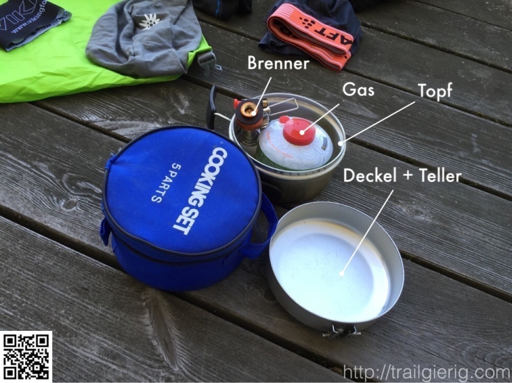 Deckel + Teller | Gas | Brenner | Topf |