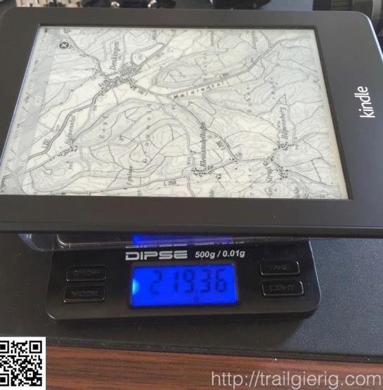 Paperwhite 3G: 220g