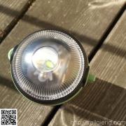 nach oben gedrehte LED